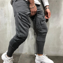 Personalized men's clothing new casual sport zipper pocket trouser jogger with straight leg tube monochrome jogger trousers