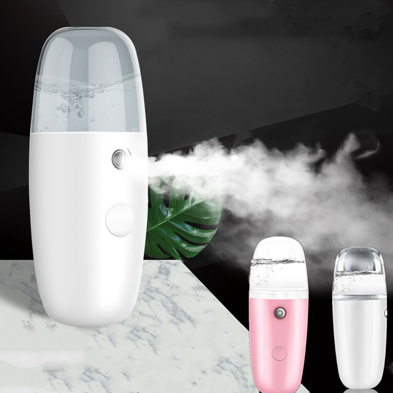 Portable Small USB Air Humidifier Rechargable 30ML Handheld Water Ultrasonic Charging Diffuser Milk Essential Oil Steamed Face