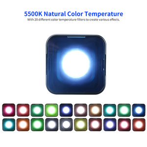 Image 3 - Ulanzi L1 للماء البسيطة مصباح ليد مع اللون هلام كاميرا عكس الضوء مخيم لكانون نيكون Drone Osmo عمل جيب DSLR Gopro 6 5