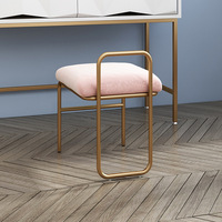 Nordic Iron Makeup Stool Net Red Ins Dressing Stool Modern Minimalist Makeup Chair Home Back Stool Furniture for Living Room