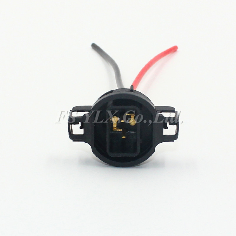 FSYLX 2X <font><b>5202</b></font> <font><b>H16</b></font> 2504 PS24W 5201 <font><b>LED</b></font> Bulb male socket Connector Fog headlight adapter holder Wiring Pigtail base relay Harness image