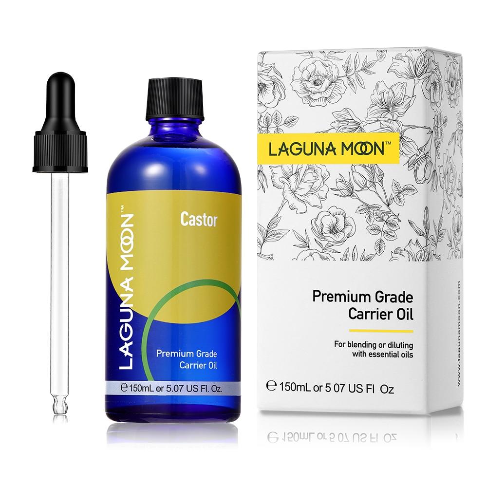 LAGUNAMOON Castor Carrier Essential Oil Base Oil 150ml Hair Growth Pormote Natural Castor Oil Eyelash Enhancer Moisturize Skin