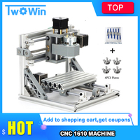 GRBL control DIY CNC Router Kits 1610 mini CNC machine,working area 16x10x4.5cm,3 Axis Pcb Milling machine,Wood Router
