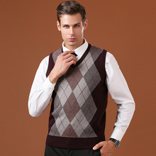 Mens Wool Knit Vest Sweater Pullover Sleeveless Tops V Neck