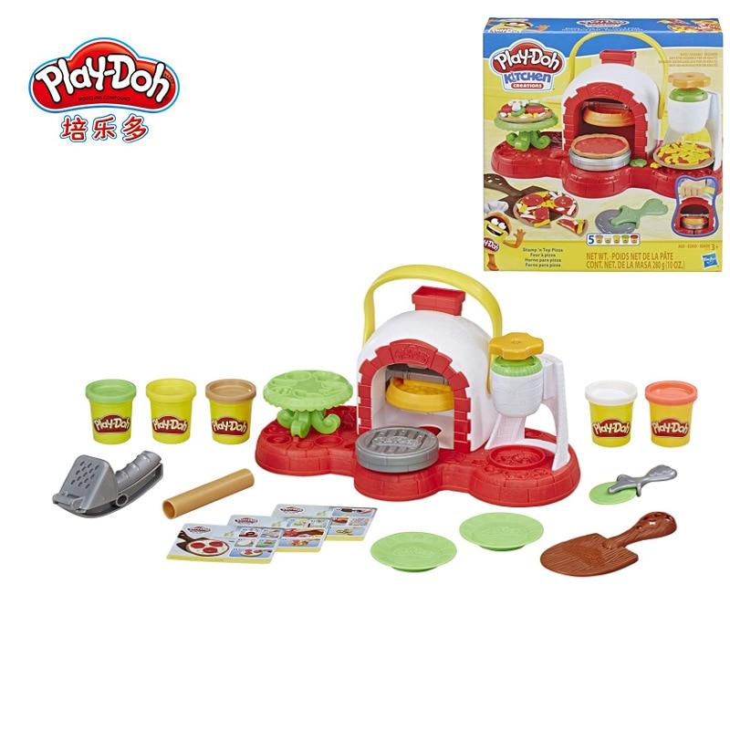 Hasbro Play Doh Colorful Mud Creative Kitchen Series Magic Pizza Oven Set Plasticine E4576 Plasticine Tool Set