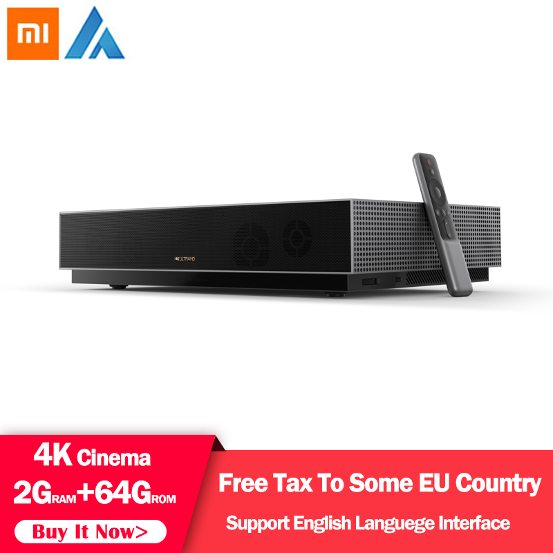 Original Xiaomi Fengmi Laser Projector TV 4K Cinema 150 Inch 2.4G/5G Wifi Home Theater 2GB 64GB MIUI TV Support HDR10 Dobby DTS