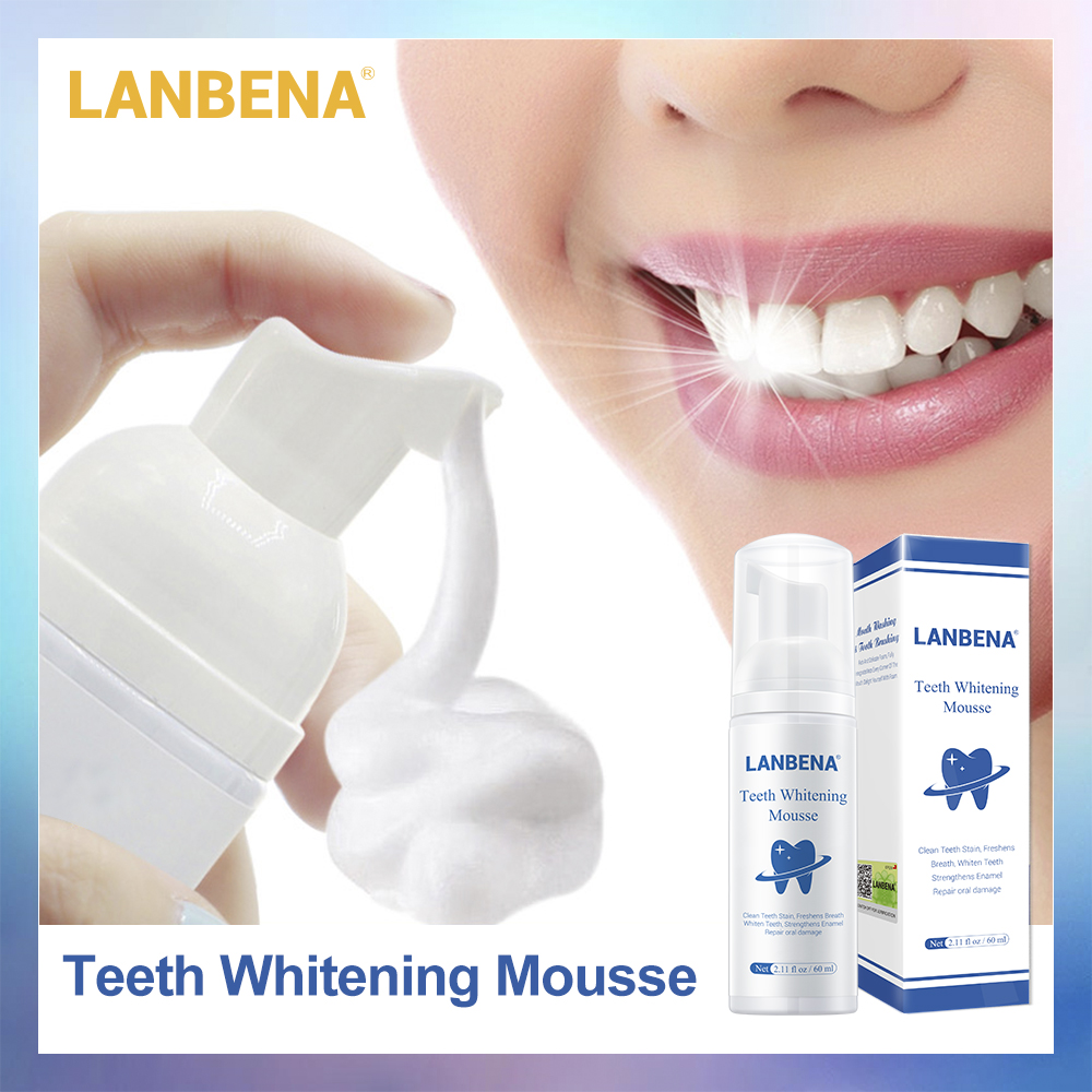 LANBENA Teeth Whitening Mousse Tooth Cleaning Fresh Shining Toothpaste Removes Plaque Stains Bad Breath Oral Hygiene Dental Tool