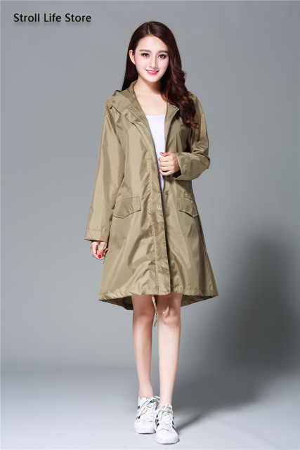 Japan Raincoat Adult Rain Poncho Korea Girls Long Rain Coat Ladies Waterproof Suit Windbreaker Women Gabardina Mujer Gift Ideas 3