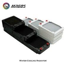 PC chłodzenie wodne grzejnik aluminiowy wielokanałowy 60mm 80mm 90mm 120mm 240mm do komputera LED aparatura do pielęgnacji