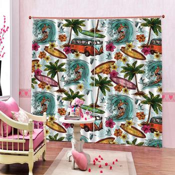 High quality custom 3d curtain fabric Color, cartoon, comic 3d Curtains Blackout for Living Room Kids Bedroom Fabric