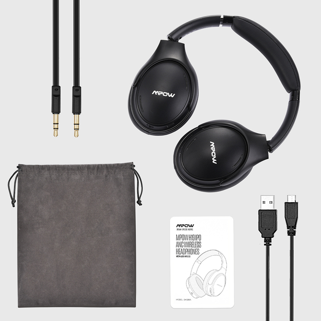 H19 IPO Wireless Bluetooth Headphones ANC Active Noise Cancelling Headset with Carrying Bag for Huawei Iphone Galaxy Phones 6