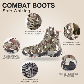 Outdoor Hiking Shoes Men Military Tactical Boots Autumn Camo Camping Trekking Boot Climbing Non-slip Wear-resistant Hiking Shoes 3