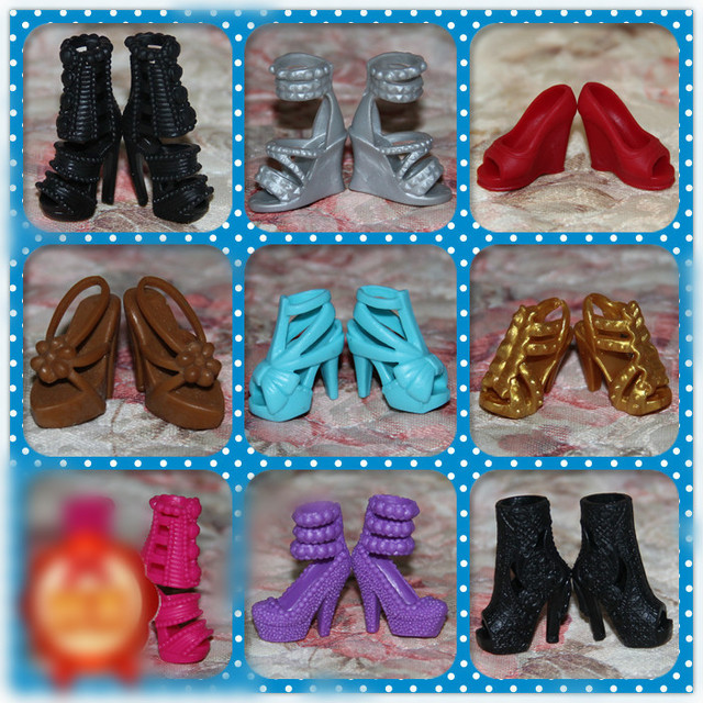 1/6 Doll Shoes Mix style High Heels Sandals Boots Colorful Assorted Shoes Accessories For Barbie Doll Baby Xmas DIY Toy 1