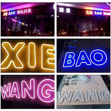 Colorful Neon Sign LED Strip Lights 1-5M IP65 Waterproof Sho