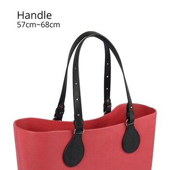 Bidirectional Adjustable Length Flat Leather Belt Handle with Drops for Obag Basket Bucket City Chic Women Handbag O Bag - discount item  9% OFF Bag Parts & Accessories