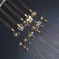 Moda 316l aço inoxidável ouro luxo colares feminino jóias artificiais coração corrente pingente jóias acessórios casais presente