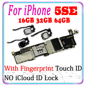 Image 1 - 16gb / 32gb / 64gb motherboard for iphone 5SE motherboard Unlocked for iphone 5SE main Logic board with chips With / NO Touch ID