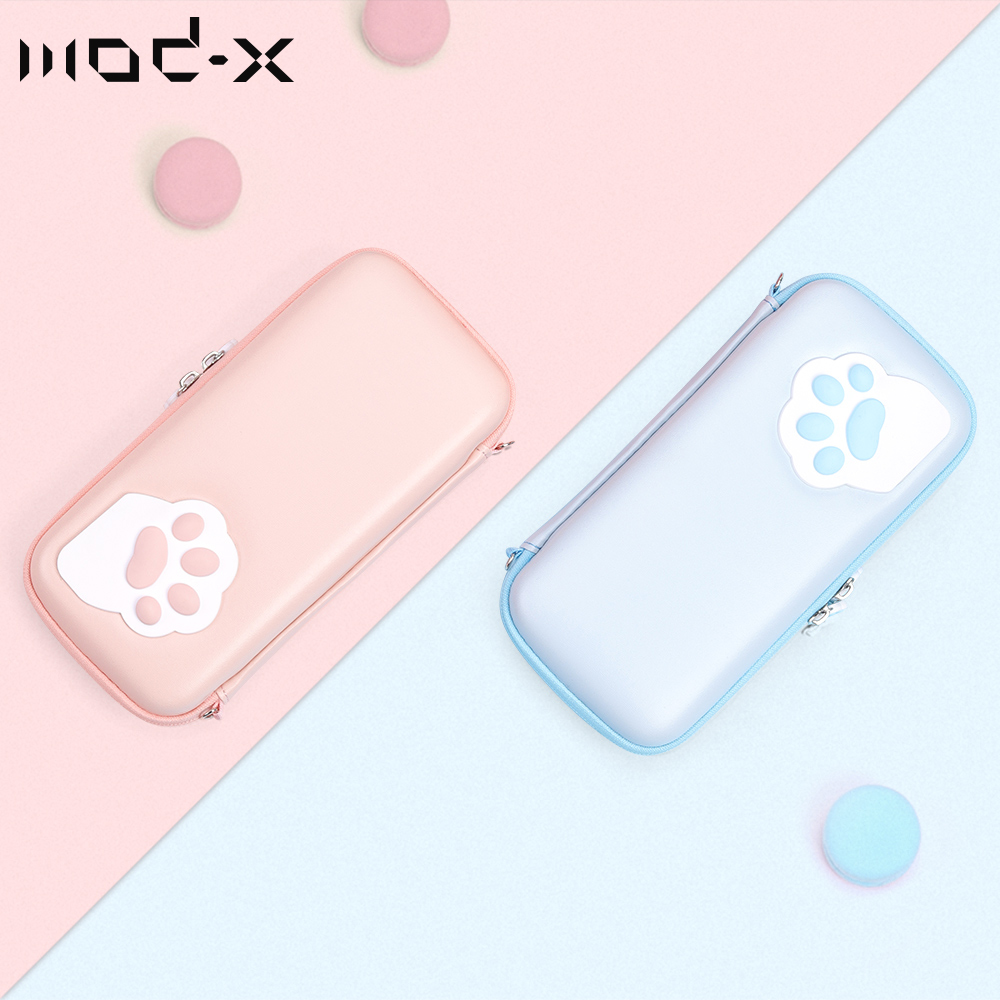 Mod-X Cat Claw Designer for Nintendo Switch Bag Portable Storage Case Hard Shell Box Nintend Switch Lite Bag NS NX Console Cover