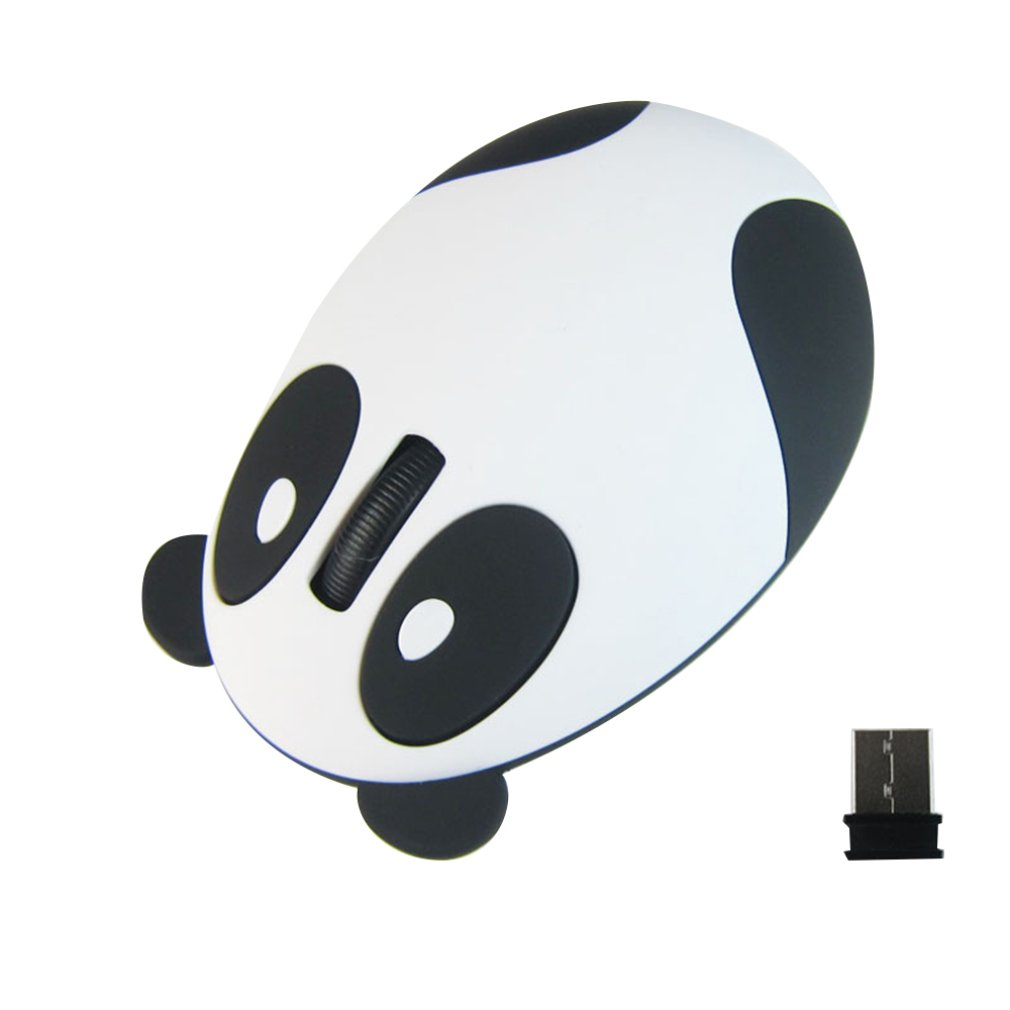 Silent Mouse 2.4G Wireless Charging Mouse Cartoon Cute Panda Optical Mouse Office Home Computer Accessories