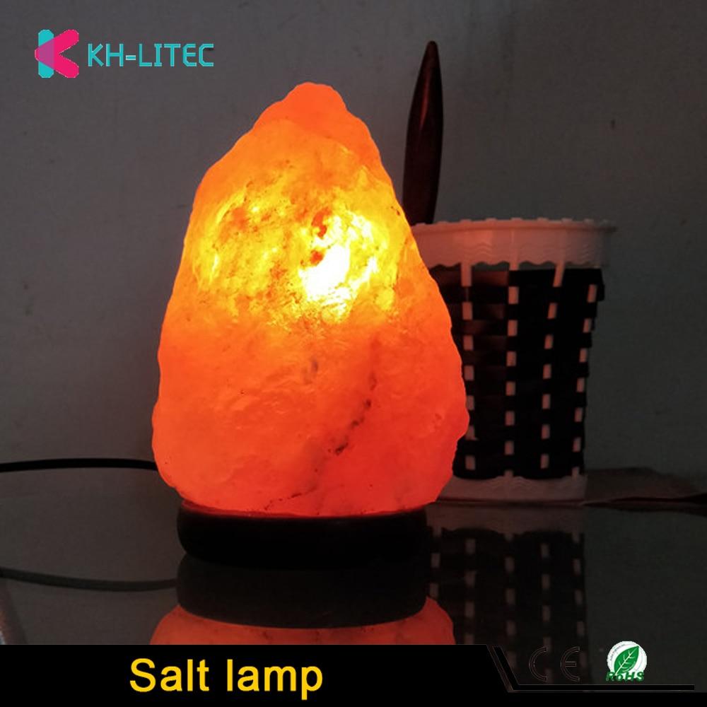 khlitec lampada de sal forma natural himalaia colorde cristal rochas lampada pode ser escurecido esculpida sal
