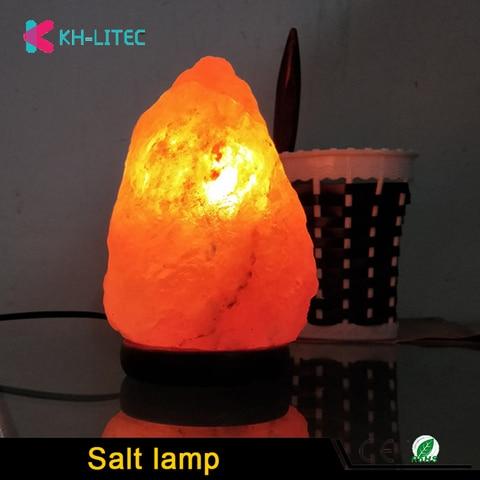 khlitec lampada de sal forma natural himalaia colorde cristal rochas lampada pode ser escurecido esculpida