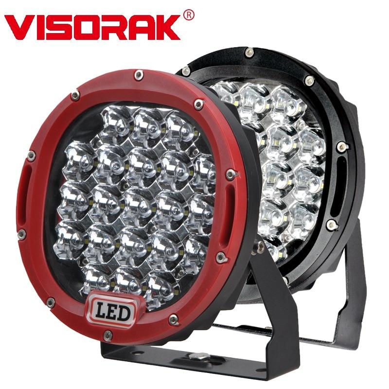 VISORAK 7inch 105W Offroad LED Work Light Bar 4x4 4WD ATV LED Light SUV Truck LED Bar For 4WD 4x4 Truck Offroad ATV SUV Car