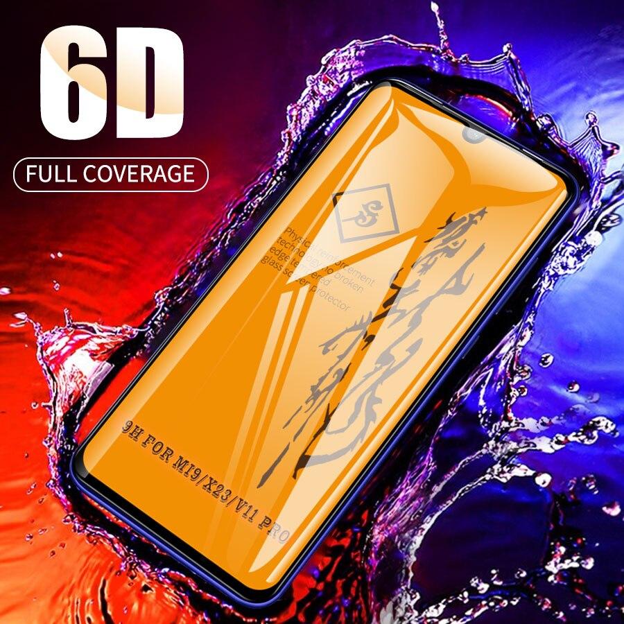 6D couvercle de colle complet verre trempé pour Xiao mi mi A3 CC9 9T Pro verre pour rouge mi K20 Note 7 8 Pro Film protecteur d'écran