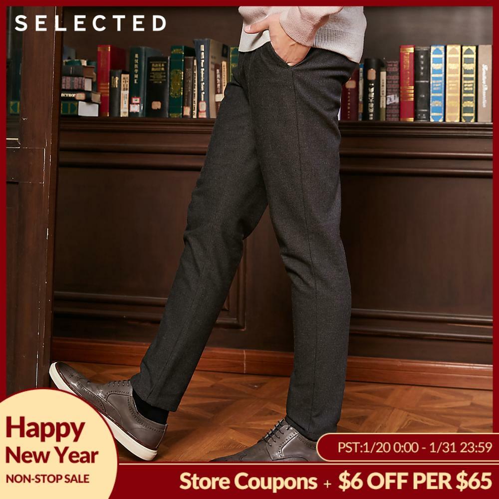 SELECTED Men's Autumn & Winter Pure Color Suit Pants S 418414548