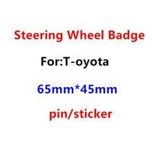 1 pçs 3d abs chrome 65mm x 45mm carro volante emblema emblema roda de direção adesivo carro estilo do carro acessórios automóveis