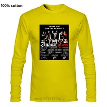 Criminal Minds 추억에 감사드립니다 T 셔츠 Black Cotton Men S-6XL