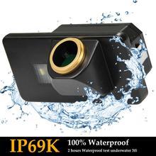 Upgraded HD 1280x720 Golden Camera Back Camera Reverse Rear Camera for BMW 3er F30 5er F10 F11 X3 F25 BMW 315i 320Li//530i//328i//535Li//520Li,Night Vision IP69K Waterproof Rear View Camera