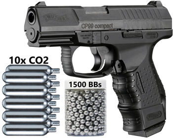 Umarex Walther CP99 Compact - Blowback CO2 .177 Cal BB Gun Air Pistol - 345 FPS Wall tin sign asg licensed cz 75 p 07 duty co2 177 bb air pistol black