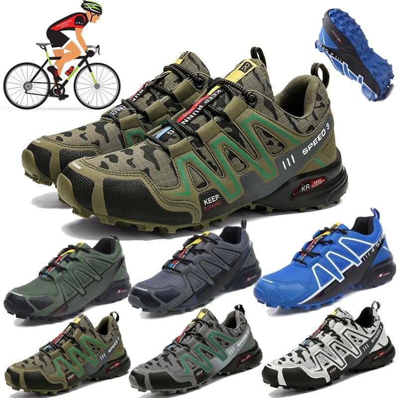 Мужская велосипедная обувь, обувь для шоссейного велосипеда, обувь для горного велосипеда, пешего туризма, фитнеса, велосипедная тренирово...