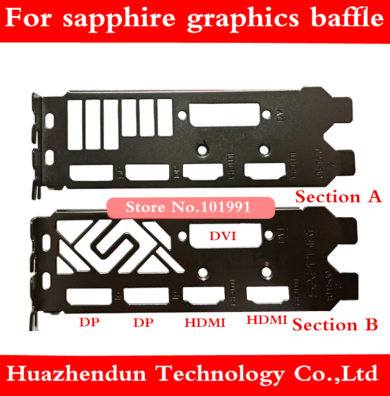 Original Bracket For Sapphire 590 570 580 470 460 And Other Graphics Baffle DP + DP + HDMI + HDMI + DVI Interface 1pcs