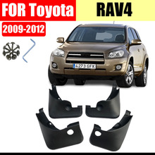2009-2012 Mud flaps for RAV4 Mudguards Fender Rav4 Mud flap splash Guard Fenders car accessories rav4 Mud Guard Front Rear 4 PCS car styling abs front rear door mud splash flap guard fender for honda cr v 2015 crv 4dr mudguards 2012 2013 2014 2015 black
