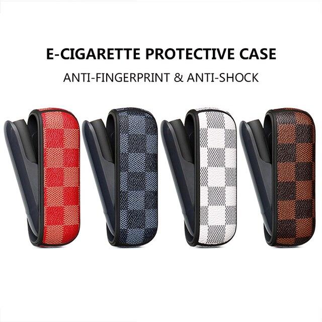 Koruyucu kılıf iqos için 3.0 kare iş terbiyeli zarif parmak geçirmez çanta elektronik sigara kırmızı indigo beyaz kahverengi kutu