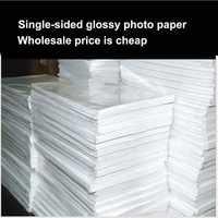 Venta al por mayor A4 100 hojas de papel fotográfico brillante impresora papel fotográfico de alto brillo para oficina de impresora de inyección de tinta de Color