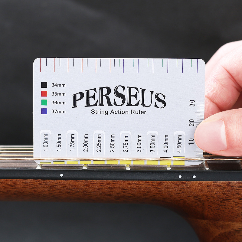 1pc Guitar String Action PVC Gauge String Pitch Ruler Suitable For String Instruments Such As Guitar Bass Mandolin Banjo