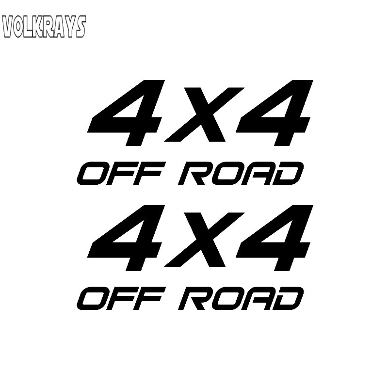 Volkrays 2 X Interesting Car <font><b>Sticker</b></font> <font><b>4X4</b></font> <font><b>Off</b></font> <font><b>Road</b></font> Accessories Reflective Waterproof Vinyl Decal Black/Silver,15cm*15cm image