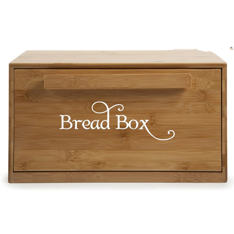 2Pcs Bread Box Bin Decal Sticker Kitchen Restaurant Breadbox Bread Bin Lable Vinyl Mural Wall Sticker Decal Home Decor
