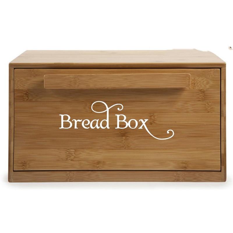 2Pcs Bread Box Bin Decal Sticker Kitchen Restaurant Breadbox Bread Bin Lable Vinyl Mural Wall Sticker Decal Home Decor