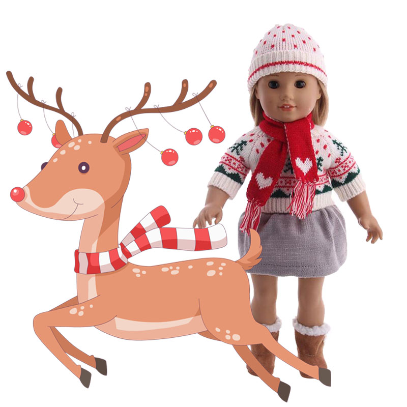 7 Styles Christmas Series Set Doll Clothes Wear Fit 18 Inch American &43 Cm Born Logan Boy Doll For Generation Baby Girl`s Toy