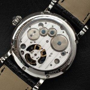 Image 5 - רב פונקציה גברים Tourbillon מכאני שעון לוח שנה Moonphase חיוג ST8007 תנועה Mens Tourbillon יד שעונים 50m