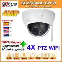 Original Dahua IP Camera PTZ SD22404T-GN-W SD22404T-GN 4MP 4X Zoom High Speed Network WiFi Wired IP Camera WDR Ultra IVS IK10