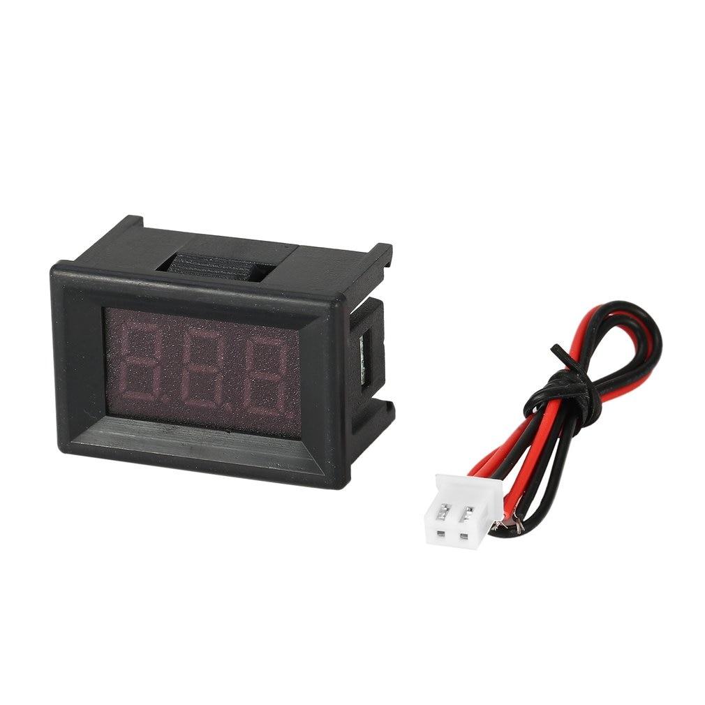 2.5-30V 0.36in 2 Wire LED Digital Display Panel Voltmeter Electric Voltage Meter Volt Tester for Auto Battery Car Motorcycle