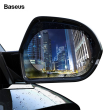 Baseus 2 Pcs Car Rearview Mirror Rainproof Film 0.15mm Clear Rear View Anti Fog Protective Films Window Foils Sticker