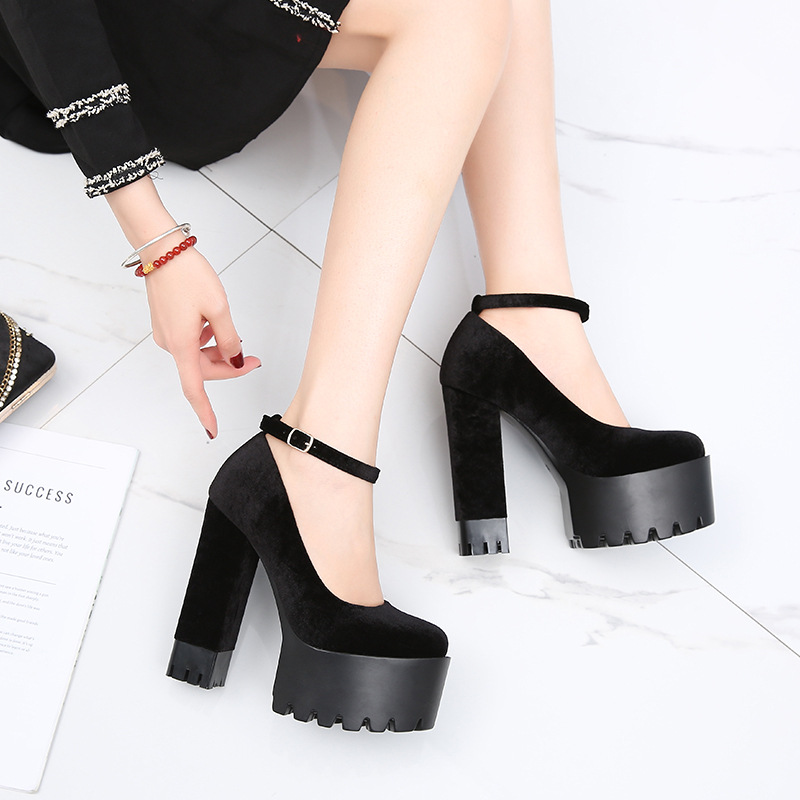 Image 4 - COWCOM  Womens Shoes 15CM Super High heeled Shoes  Waterproof Platform  Catwalk Show Single Shoes Women Sandals ZYW 1317 2High Heels   -