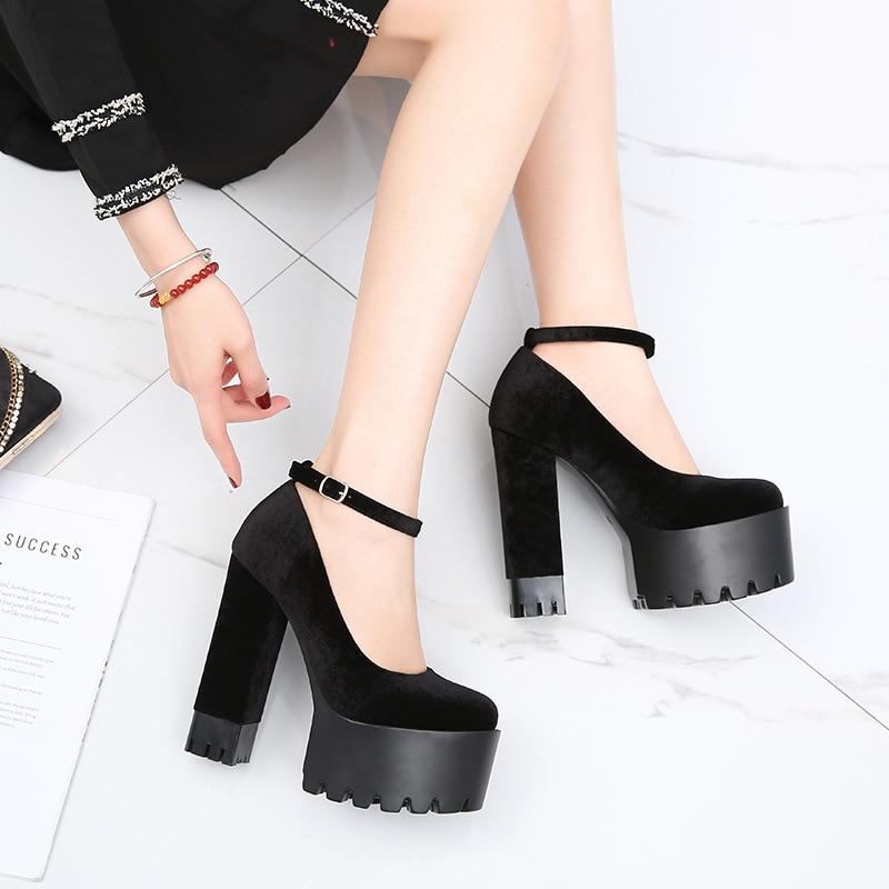 Image 4 - COWCOM buty damskie 15CM Super buty na wysokim obcasie wodoodporna platforma Catwalk pokaż pojedyncze buty damskie sandały ZYW 1317 2Wysokie obcasyButy -