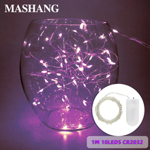 Waterproof LED Light String Christmas Wedding Decoration Party Light 1M 10LEDS CR2032 Battery Powered Garden Home Lighting 17 5cm battery powered rechargeable rgb led lampwick lighting for flower pot furniture to garden or home
