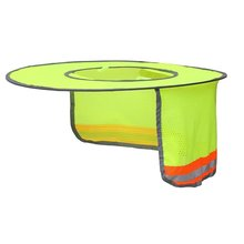 Sunshade Outdoor Construction Safety Hard Hat Sun Shade Neck Shield Reflective Stripe Protective Helmets Shield